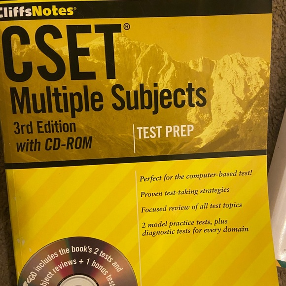 Other - CliffNotes CSET Multiple Subject test prep book